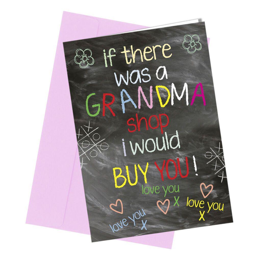 274 GRANDMA BIRTHDAY / MOTHERS DAY CARD Greeting Comedy