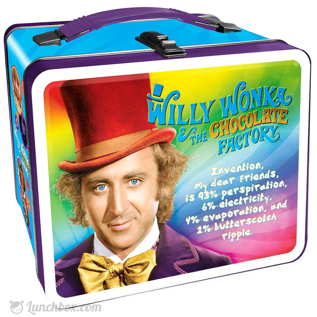 Willy Wonka  Gobstoppers Vintage Style Metal Lunch Box