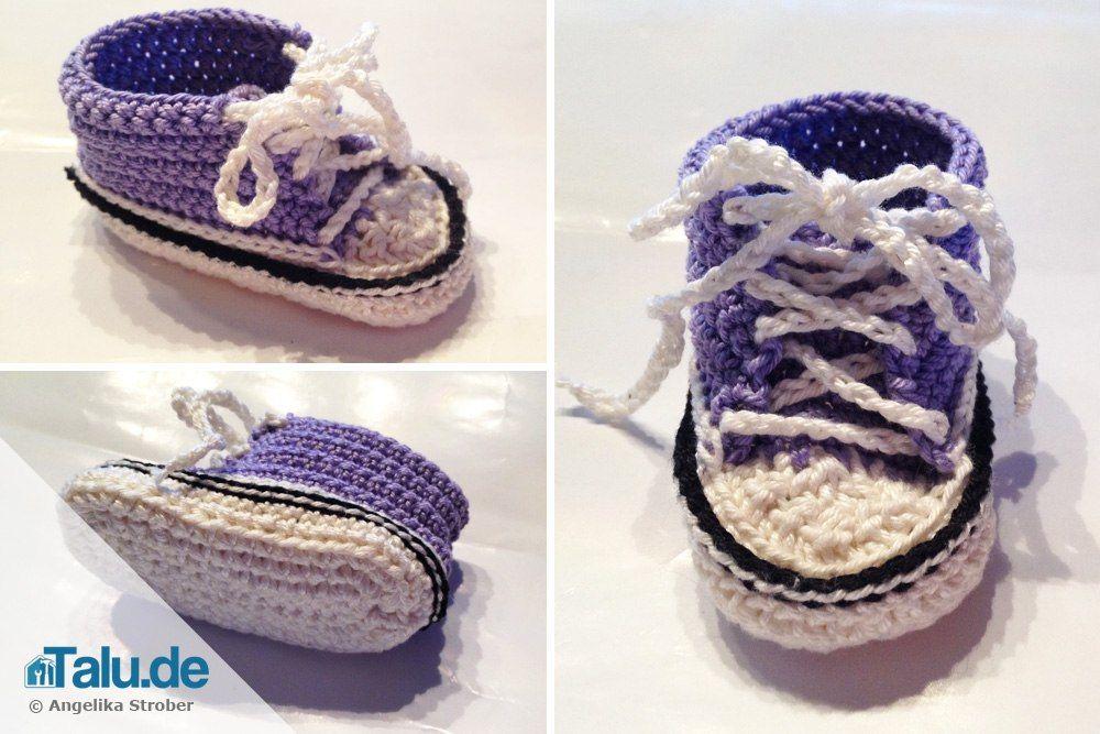 Baby Chucks Häkeln Anleitung Für Trendige Babyschuhe Zukünftige