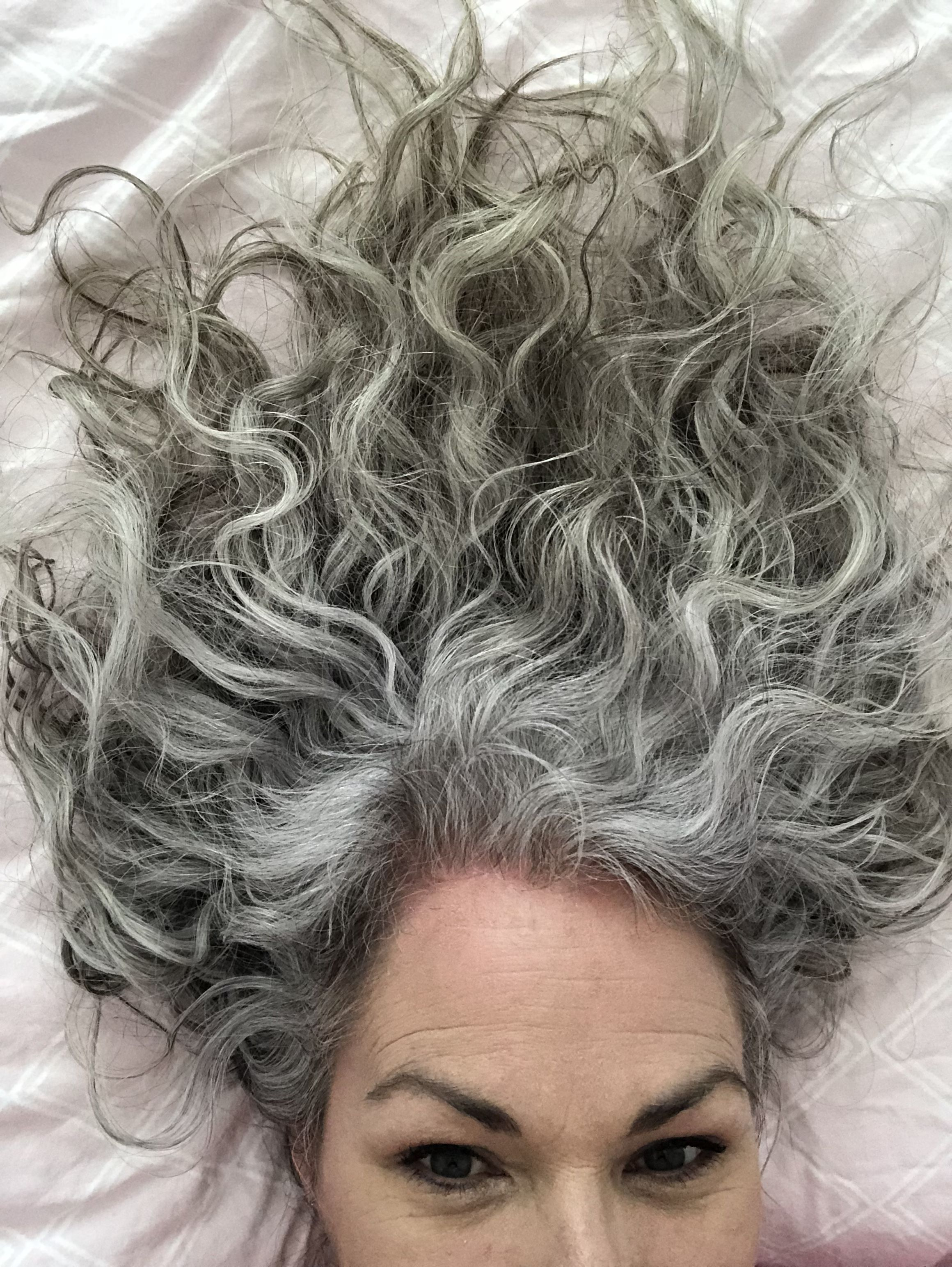 quite the mix of colours | grey hair | hair styles, curly hair