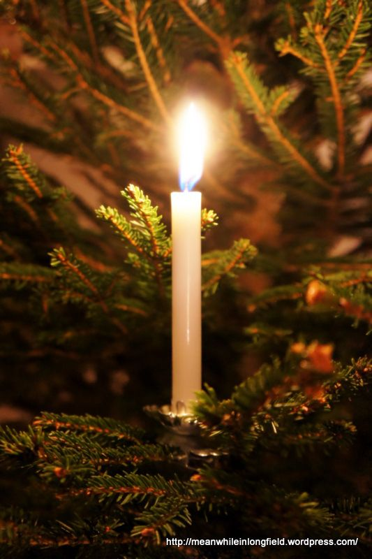 White Christmas Tree Candles