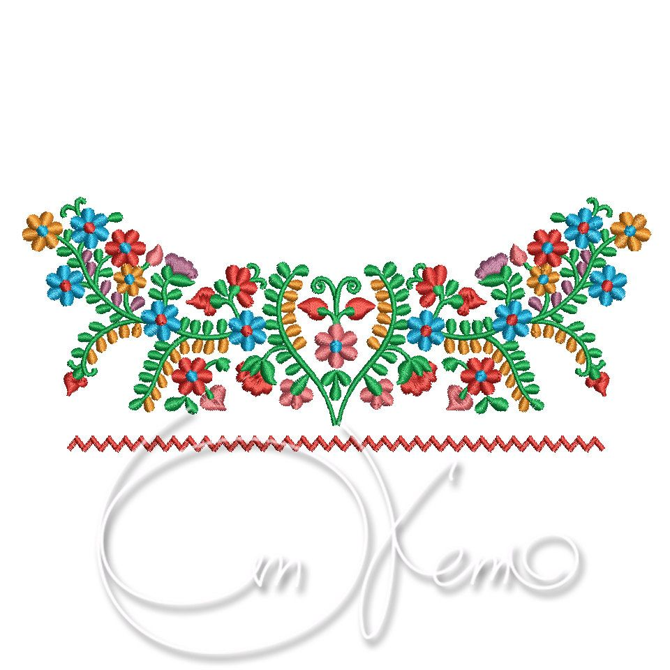 Machine embroidery design mexican dress
