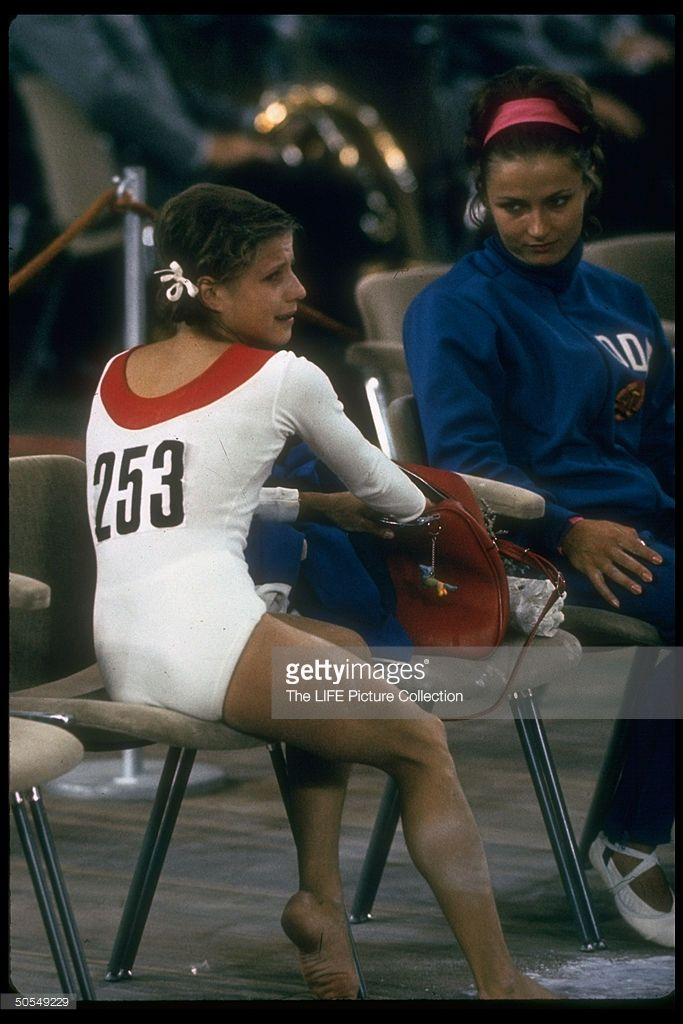 soviet gymnast olga korbut at the summer olympics
