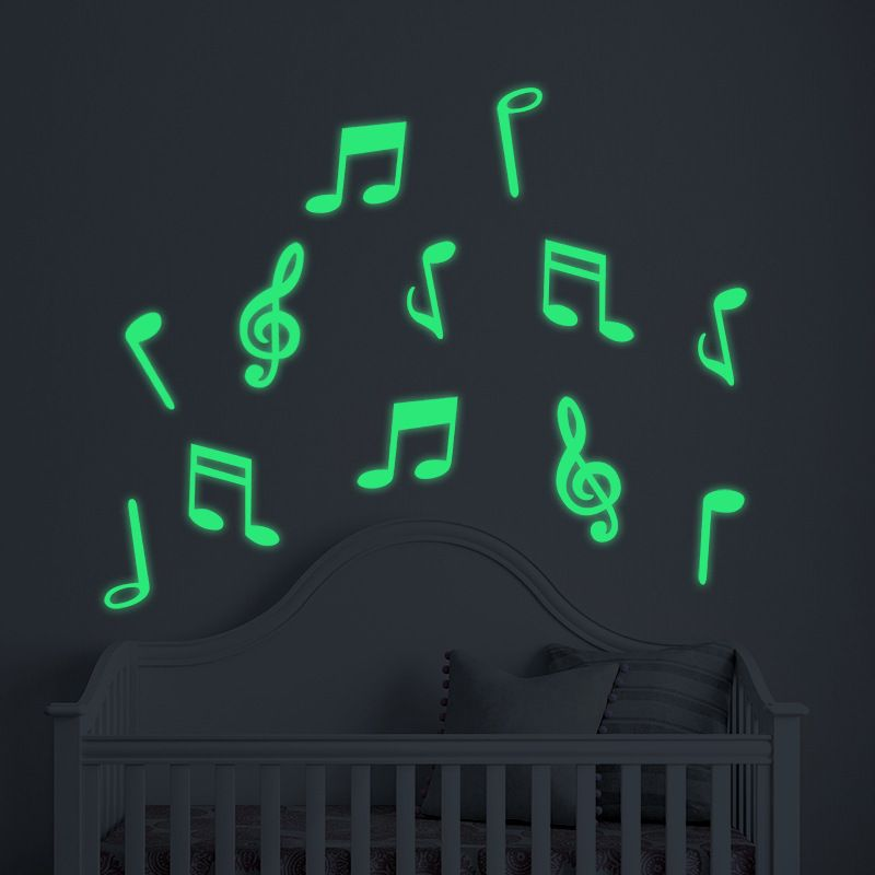 Best Music Notes Luminous Wall Stickers Glow In The Dark Baby 400 x 300