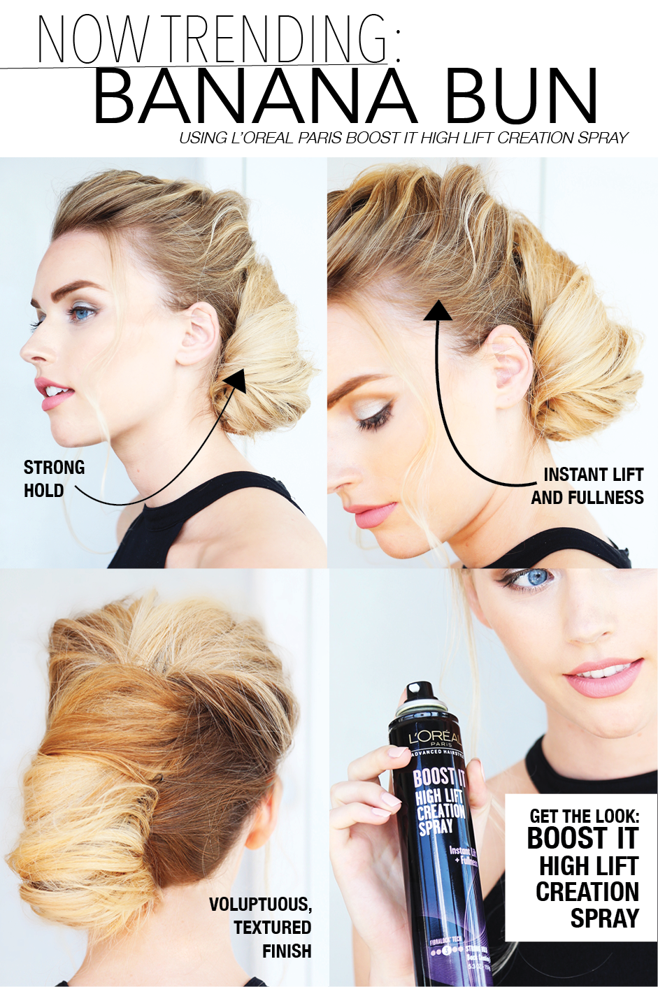 Luoréal advanced hairstyle boost it high lift creation spray gives