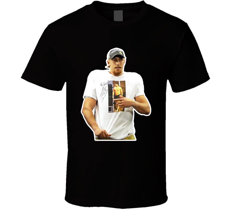 George Kittle Wearing Jimmy Garoppolo Football T Shirt in ... Jimmy Garoppolo Patriots Shirt