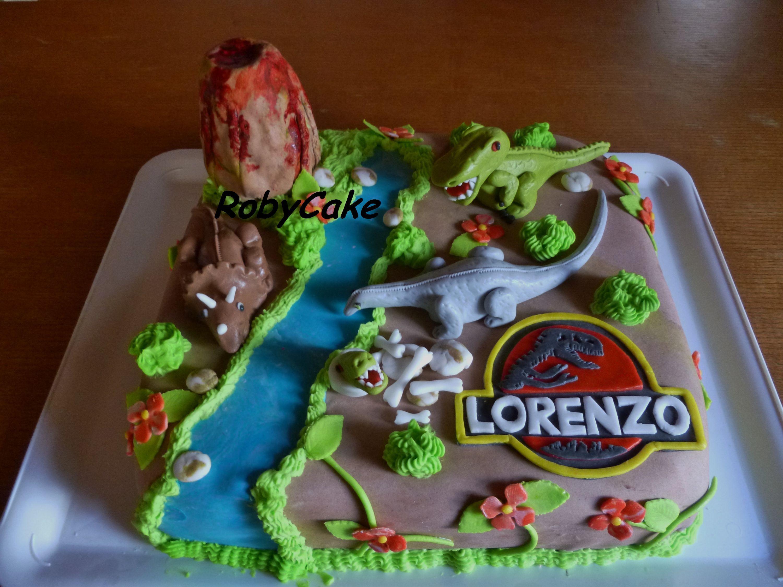 Pdz Torta Dinosauri Jurassik Park Dinosaurs Cake