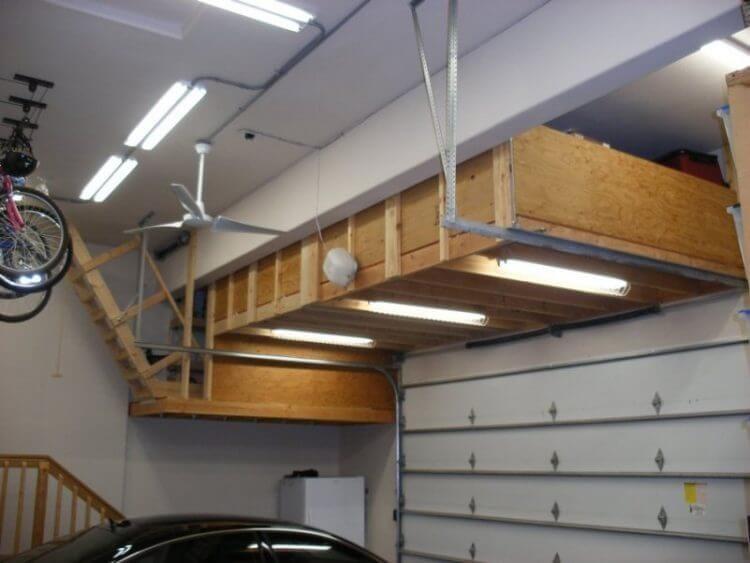 13 Creative Overhead Garage Storage Ideas You Should Know Garage Ceiling Storage Garage Shelving Plans Overhead Garage Storage
