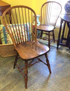Pair of Windsor Chairs   $100 Pair   Or   $75 Each   Butler Creek Antiques Dealer #8804  Lucas Street Antiques 2023 Lucas Dr. Dallas, TX 75219  Like us on Facebook: https://www.facebook