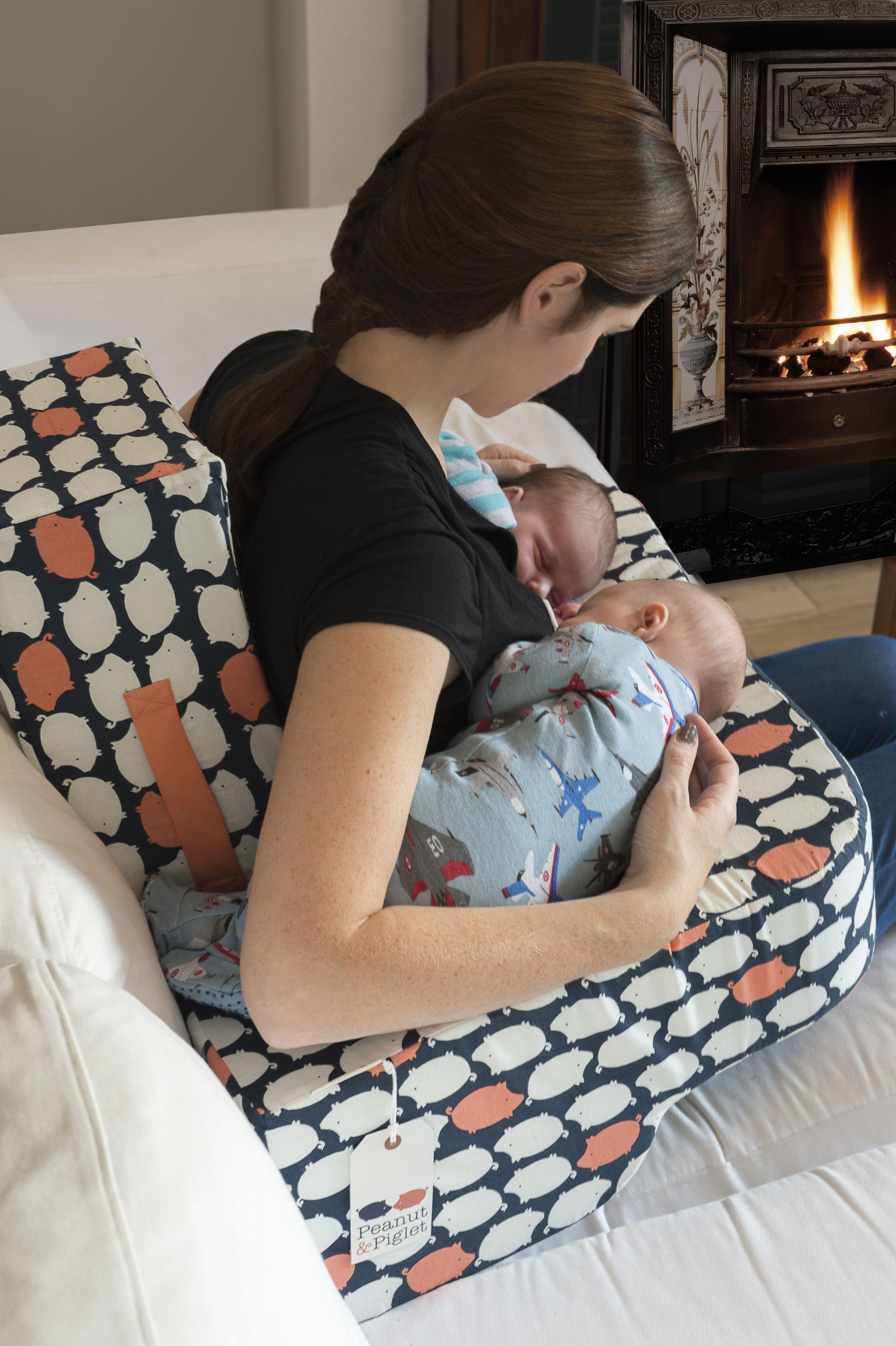 Twin breast feeding pillow