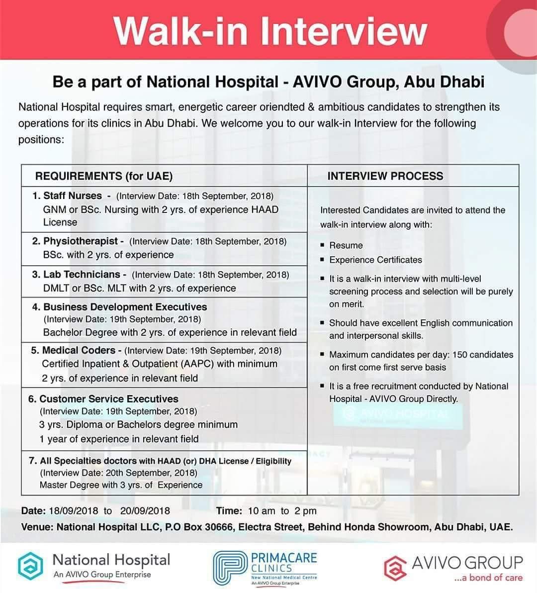 Walkin Interview UAE Job Openings Job opening, Interview
