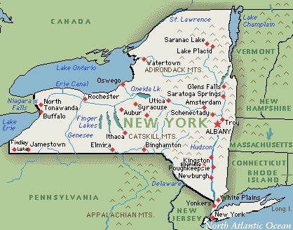 State Maps For Kids To View Ski Resorts In New York Click Below - Upstate new york map