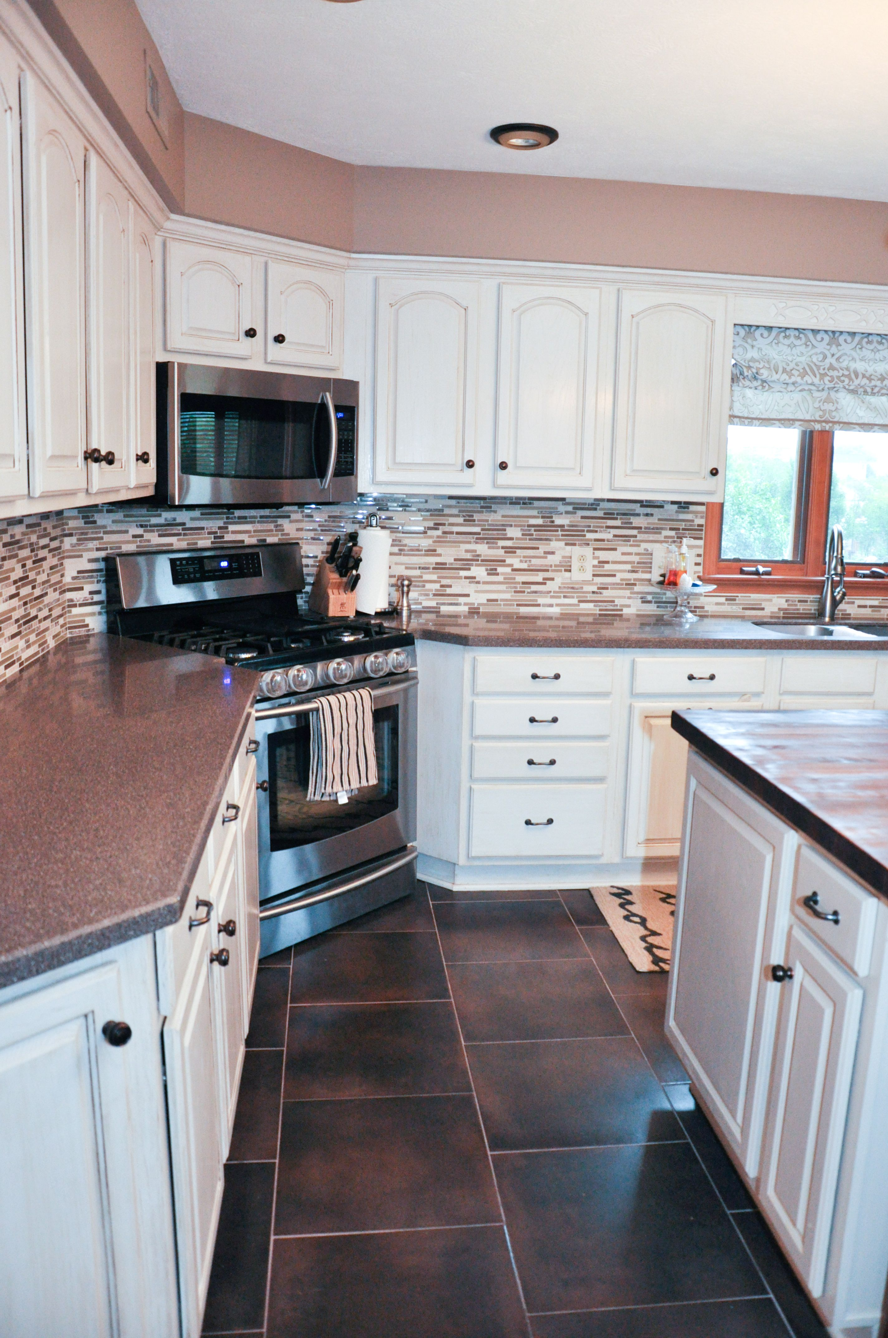 for kitchen use use the corner for the stove keeps more counter space and