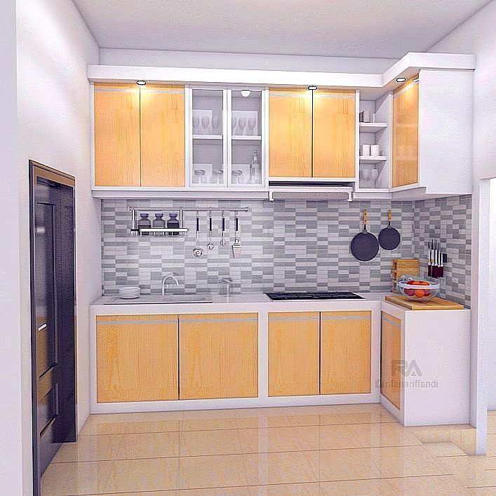 Kitchen set minimalis apartemen for Kitchen minimalis