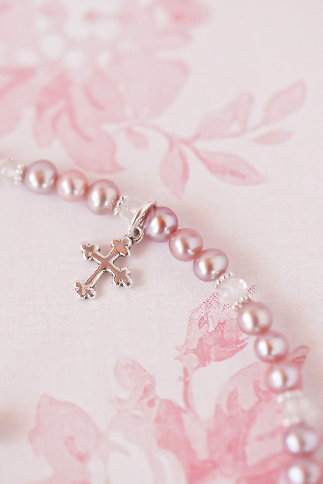 Personalized baby baptism bracelet in modern jewelry