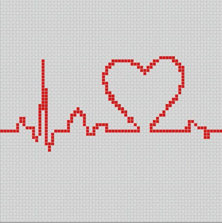 Arritmia cardíaca - Pixel Art Patterns