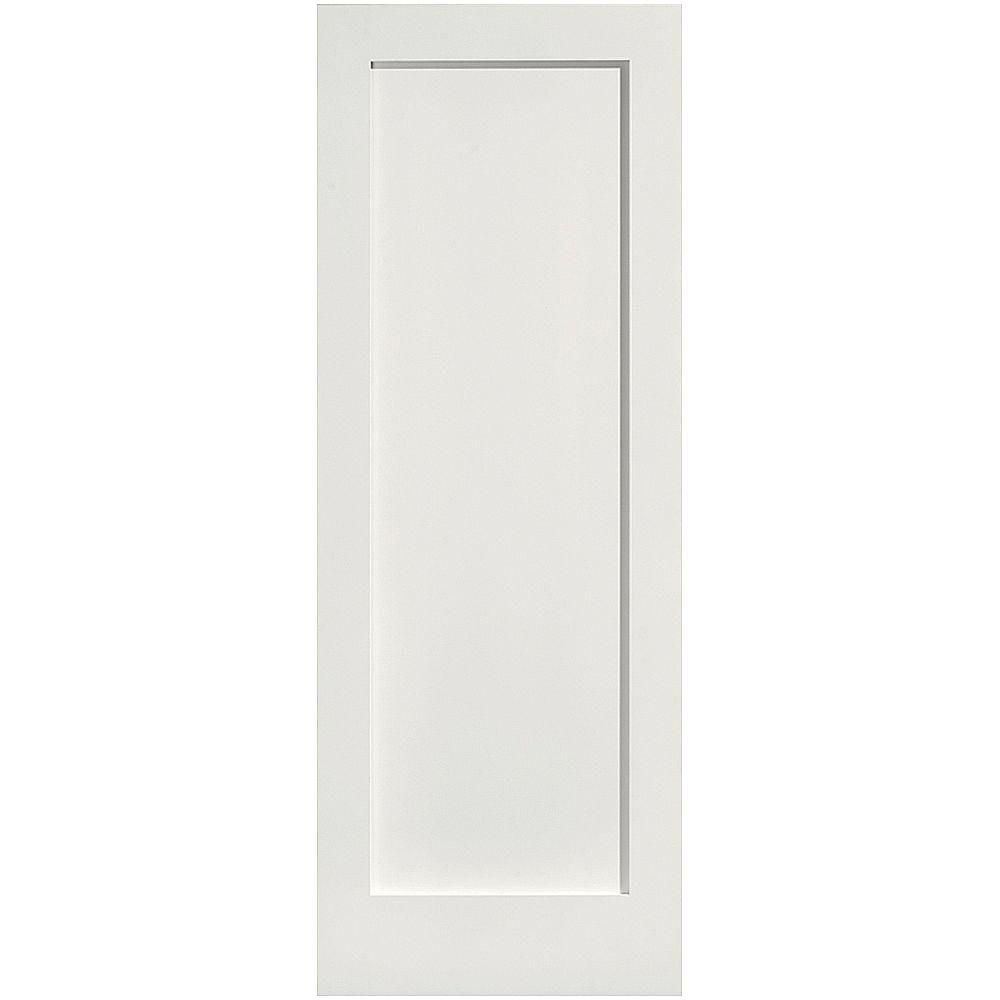 Masonite 28 In X 80 In Mdf Series Smooth 1 Panel Solid Core Primed Composite Interior Door Slab White Prehung Interior Doors Masonite Interior Doors Mdf Doors