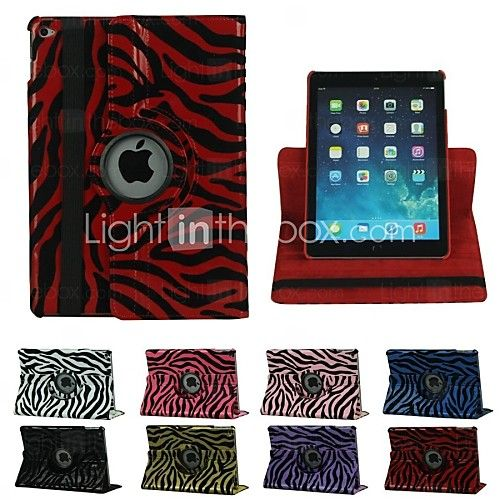 360 Degree Rotation Zebra PU Leather Full Body Case for iPad Air 2/iPad 6 - EUR €20.99