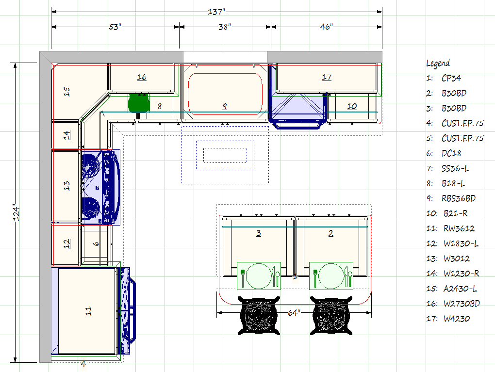 Kitchen Blueprints Floor Plan | Kitchen Gallery, 69 Lafayette Road, North  Hampton, NH