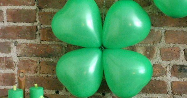 Liked on Pinterest: Shamrock Balloons | Oh Happy Day!