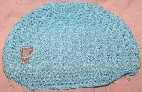 Blue Monkey Ballerina Newsboy Hat by FunkyBsDesigns on Etsy, $7.99