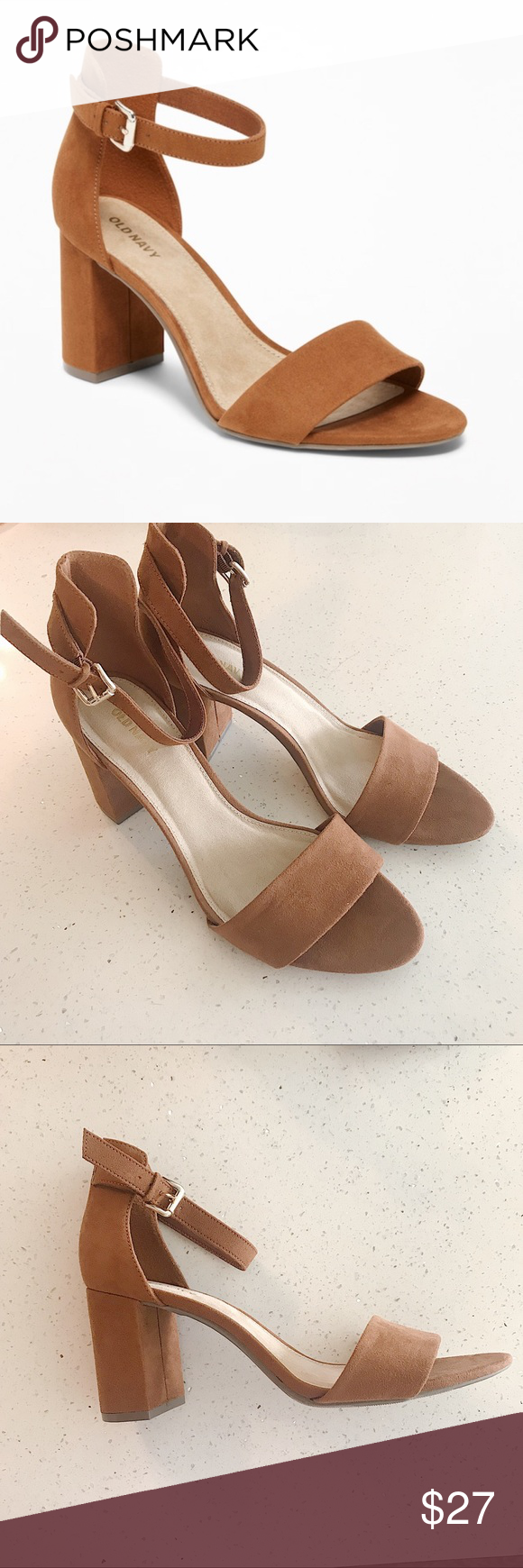 6d5e4eda1641 Old Navy Faux-Suede Block-Heel Sandals for Women Smooth