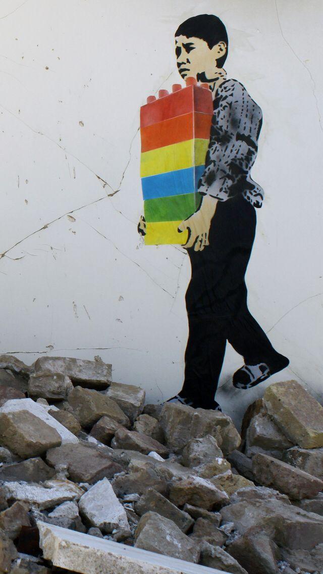 Banksy Lego worker | Street Art! | Street art banksy