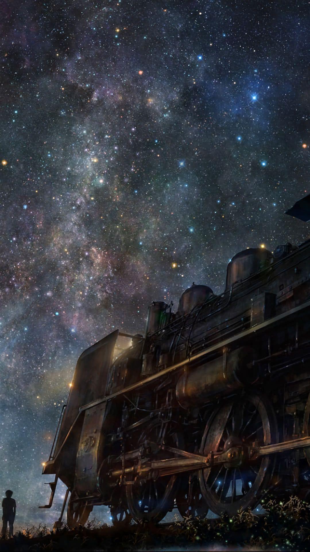 人気3位 星空と汽車 Iphonex スマホ壁紙 待受画像ギャラリー スマホ壁紙 壁紙 綺麗 壁紙