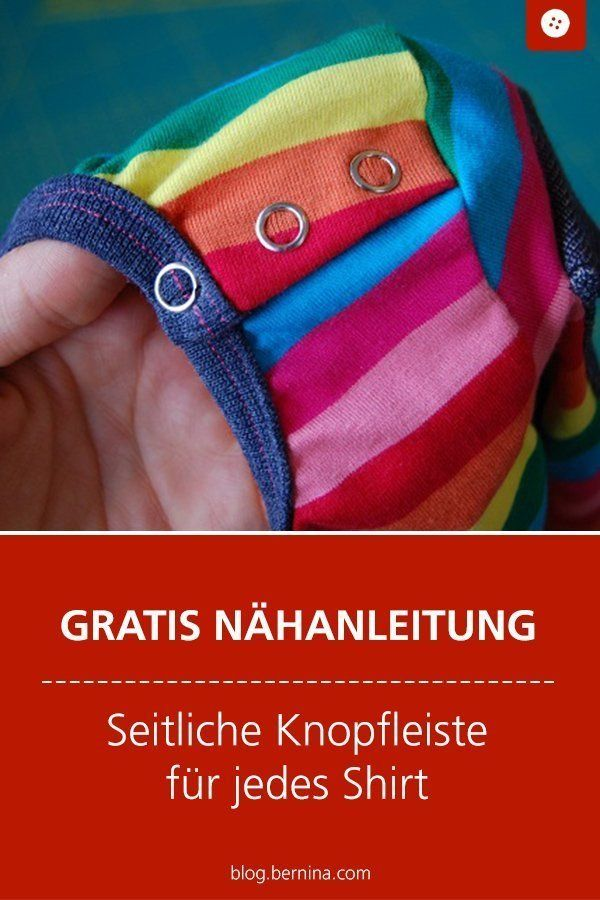 Une patte de boutonnage latérale sur chaque chemise »Blog BERNINA   – Nähen für Baby und Kleinkinder