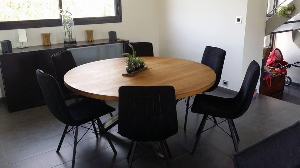 Épinglé par Steel Home sur Tables | Style industriel, Table