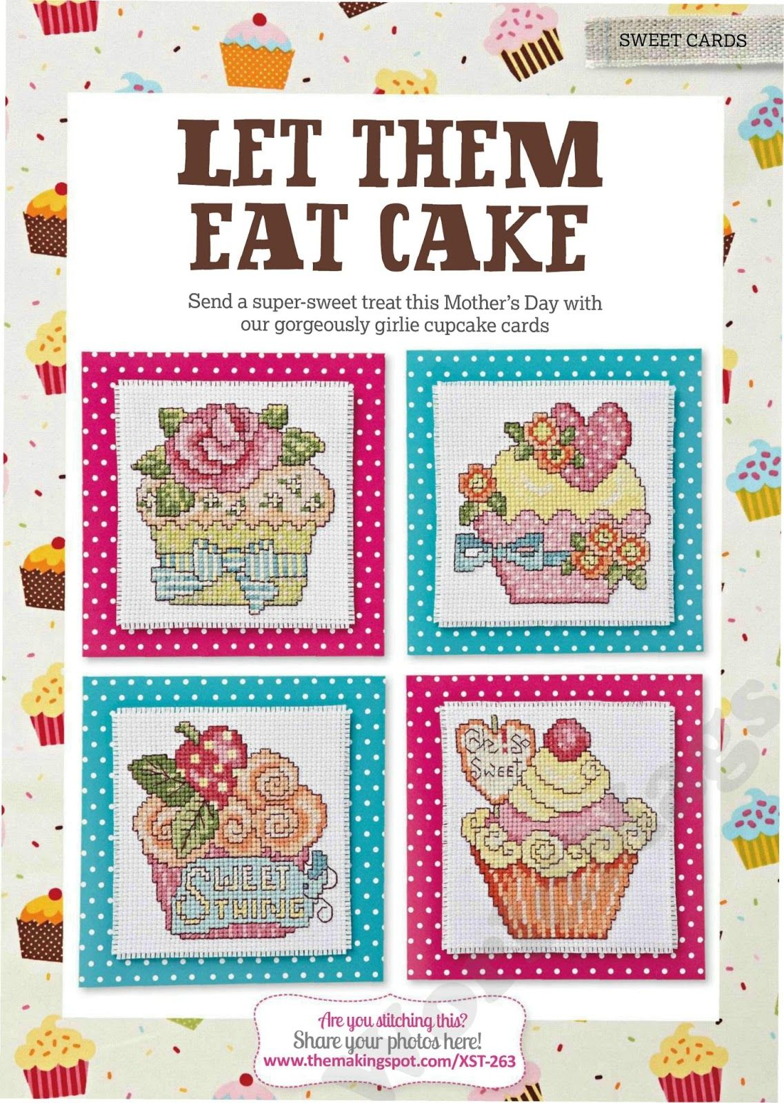 Vida em Ponto Cruz: Lindos cupcakes | Cross stitch patterns | Pinterest