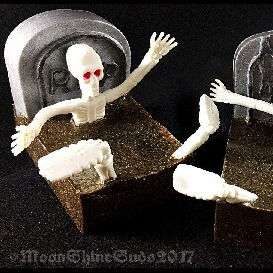 Dirt nap soap skeleton bar halloween fun spooky tombstone