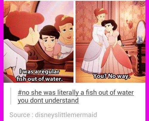 ariel, disney, and fish image