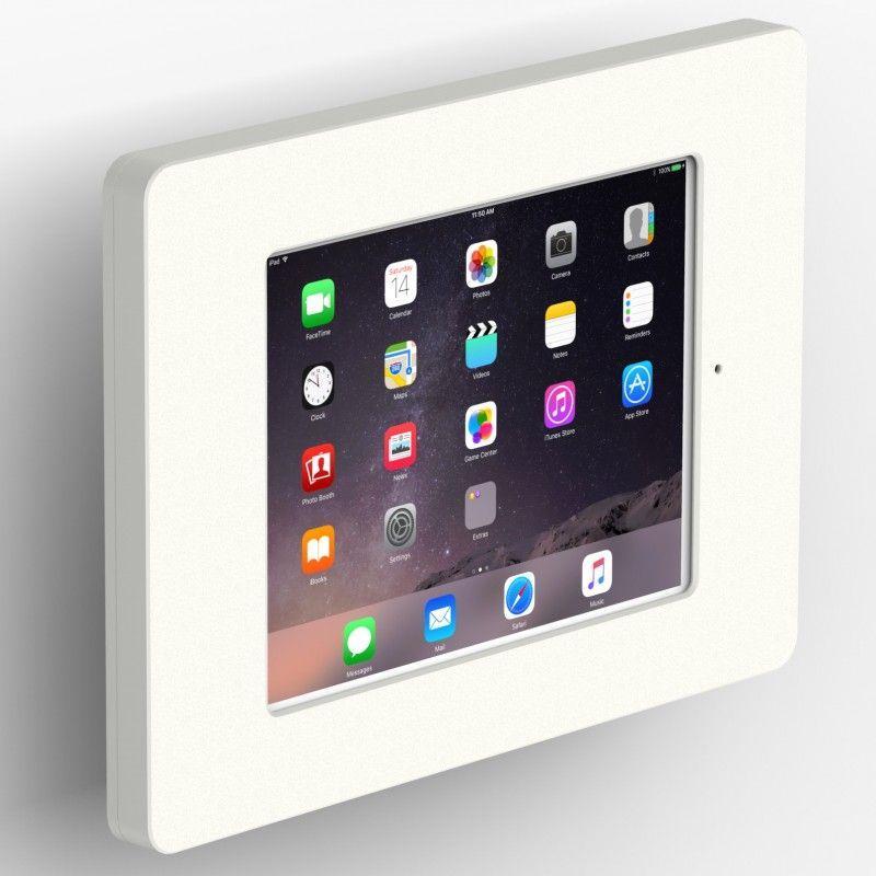 Vidamount Tilting Wall Ipad Mini 4 5 Home Button Covered Tablet Mount White Ipad Wall Mount Tablet Ipad Mini