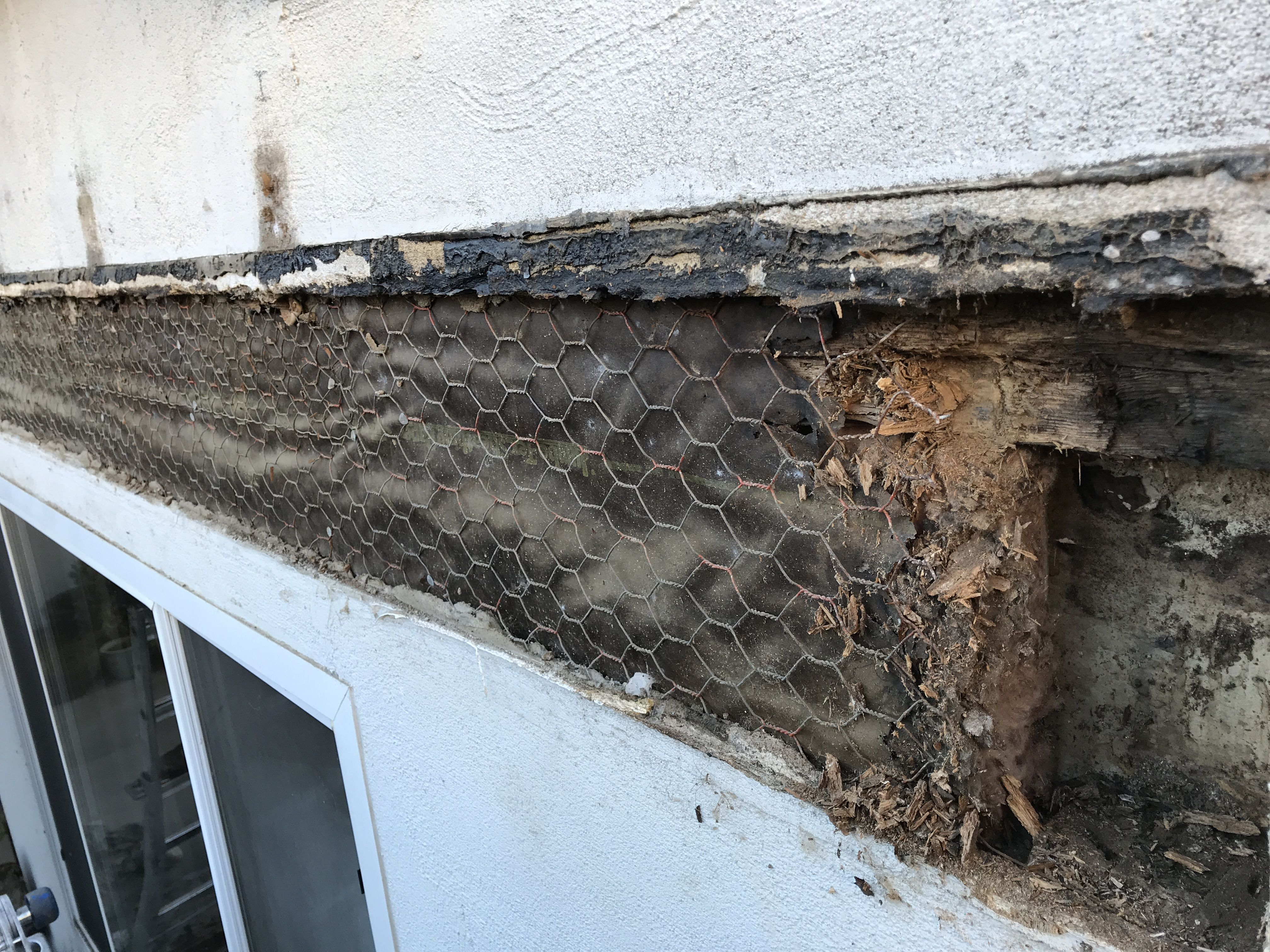 Excess Water Penetrating Your Stucco Can Cause Mold Damage Wall Exterior Wood Repair Exterior Wood