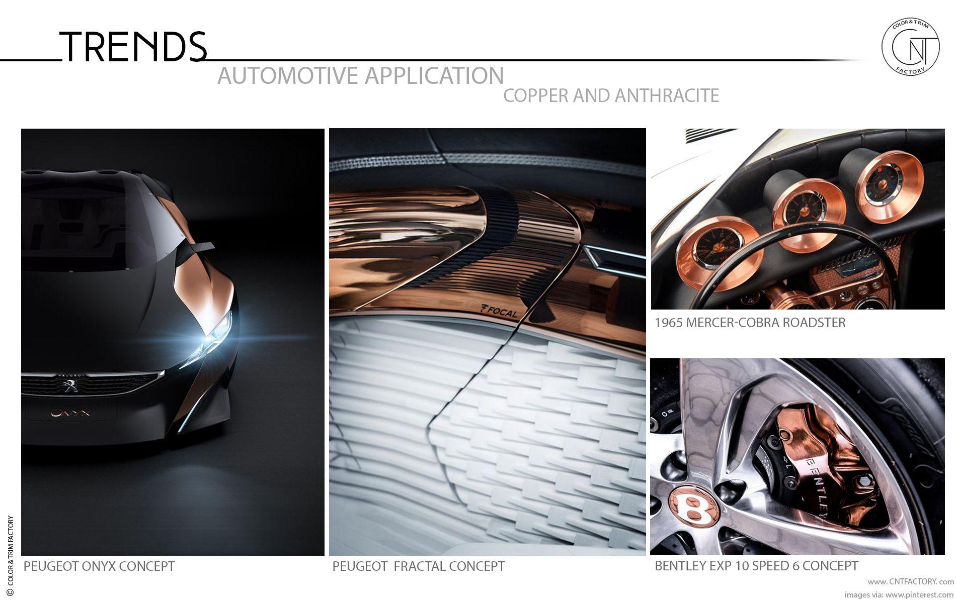 Copper Anthracite Automotive Color And Trim Trends Automotive Design Automotive Color