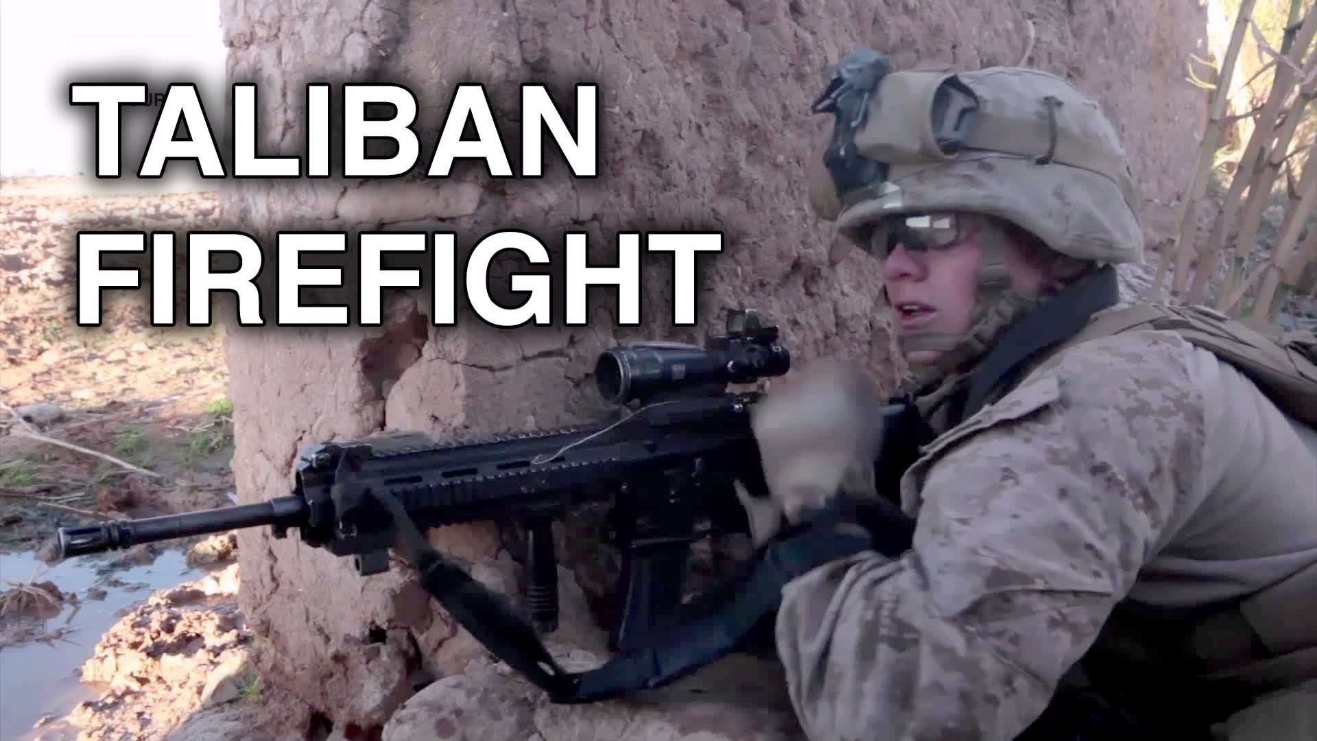 ▷ Combat Footage: US Marines Firefight with Taliban Insurgents in