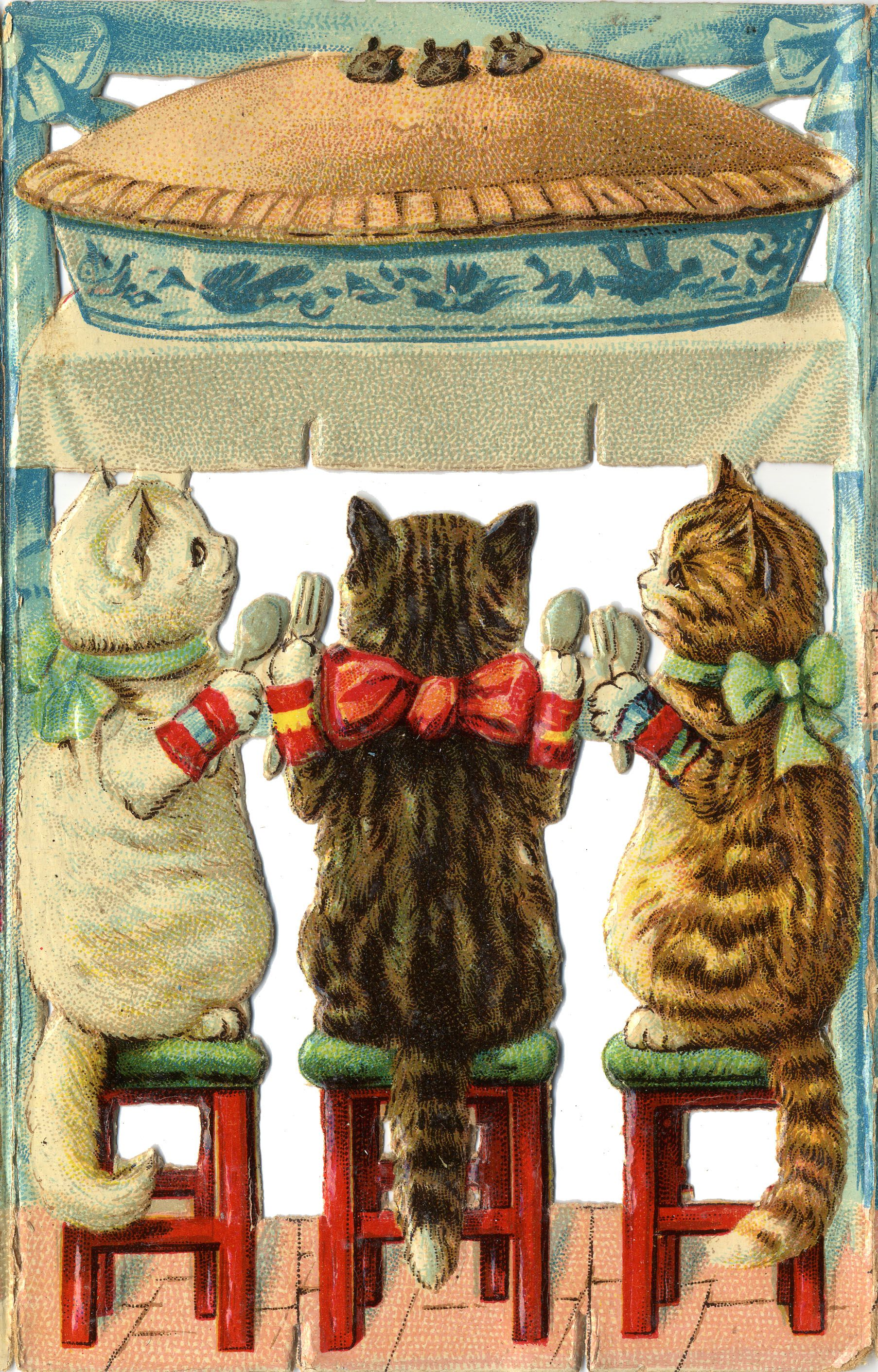 Hungry Kitties Lost Their Mittens And They Shall Have No Pie