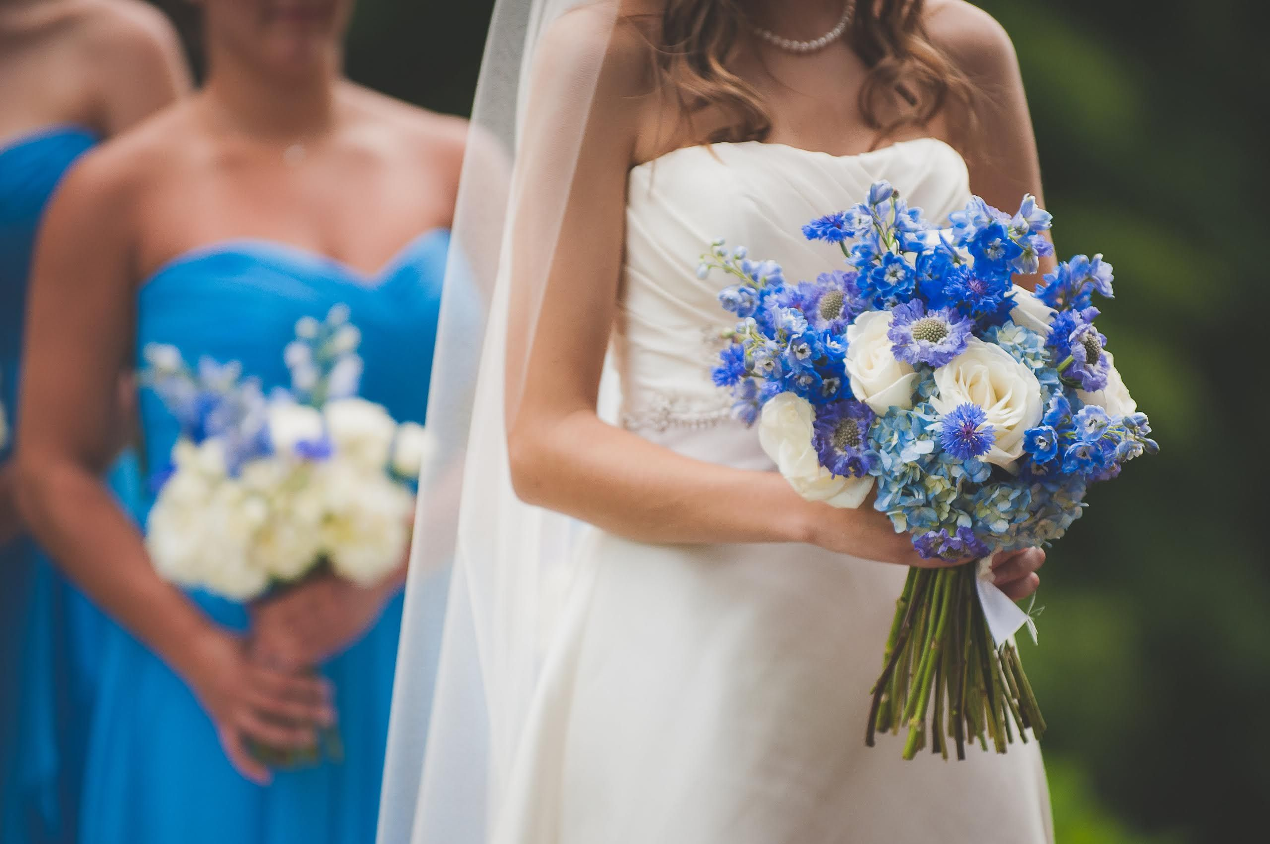 Cornflower Blue And White Wedding Flowers Floral Designed By