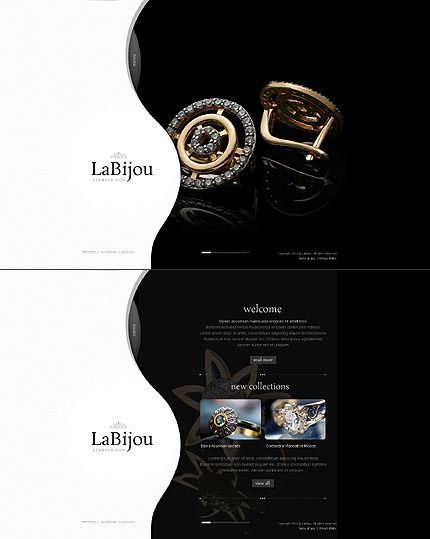 Jewelry Website Template | Jewelry Website, Website And Web Design