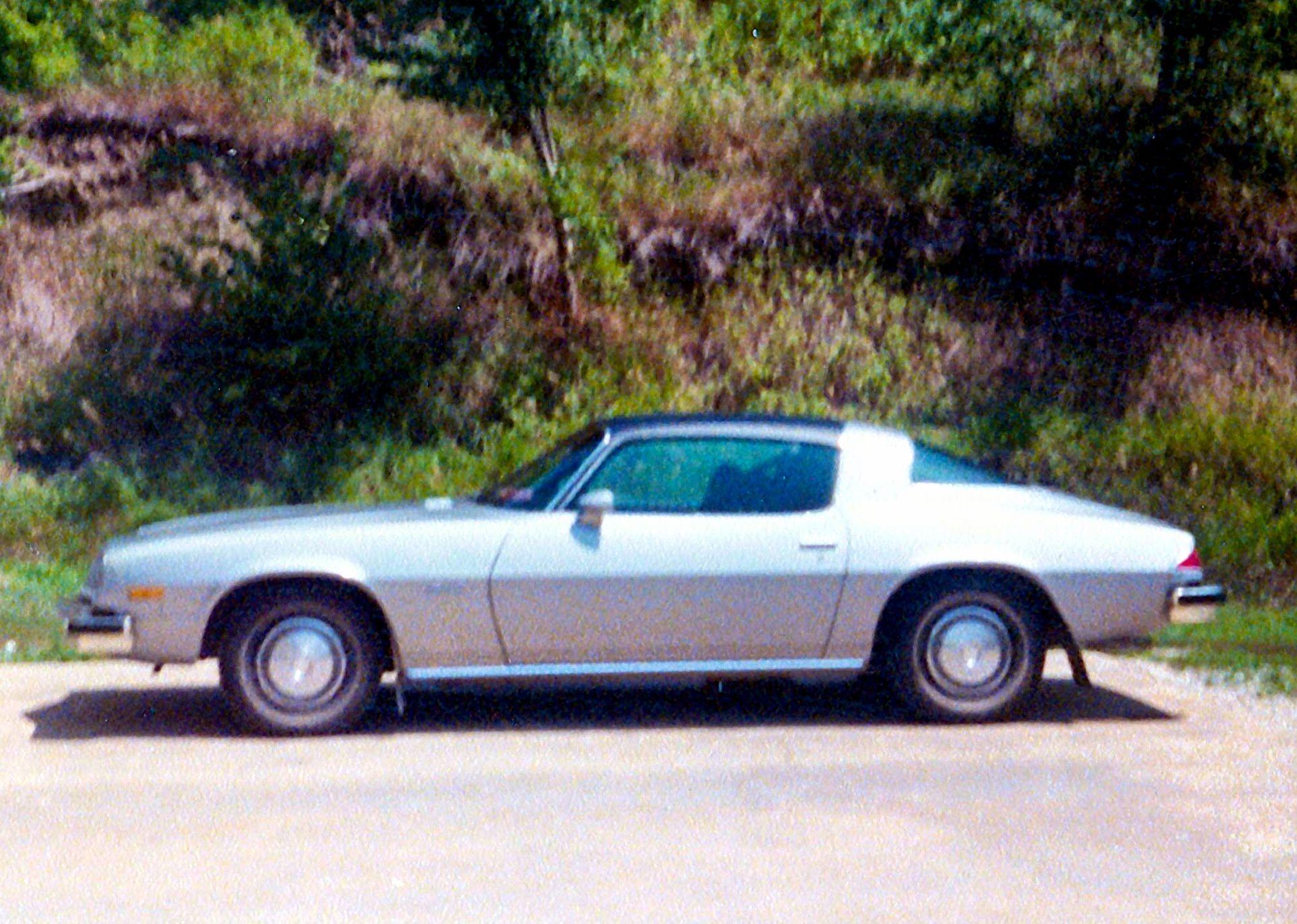 My 1976 Camaro Got It For My Sweet 16 It Had A Black Vinyl Top With A Silver Body 1976 Camaro Black Vinyl Camaro