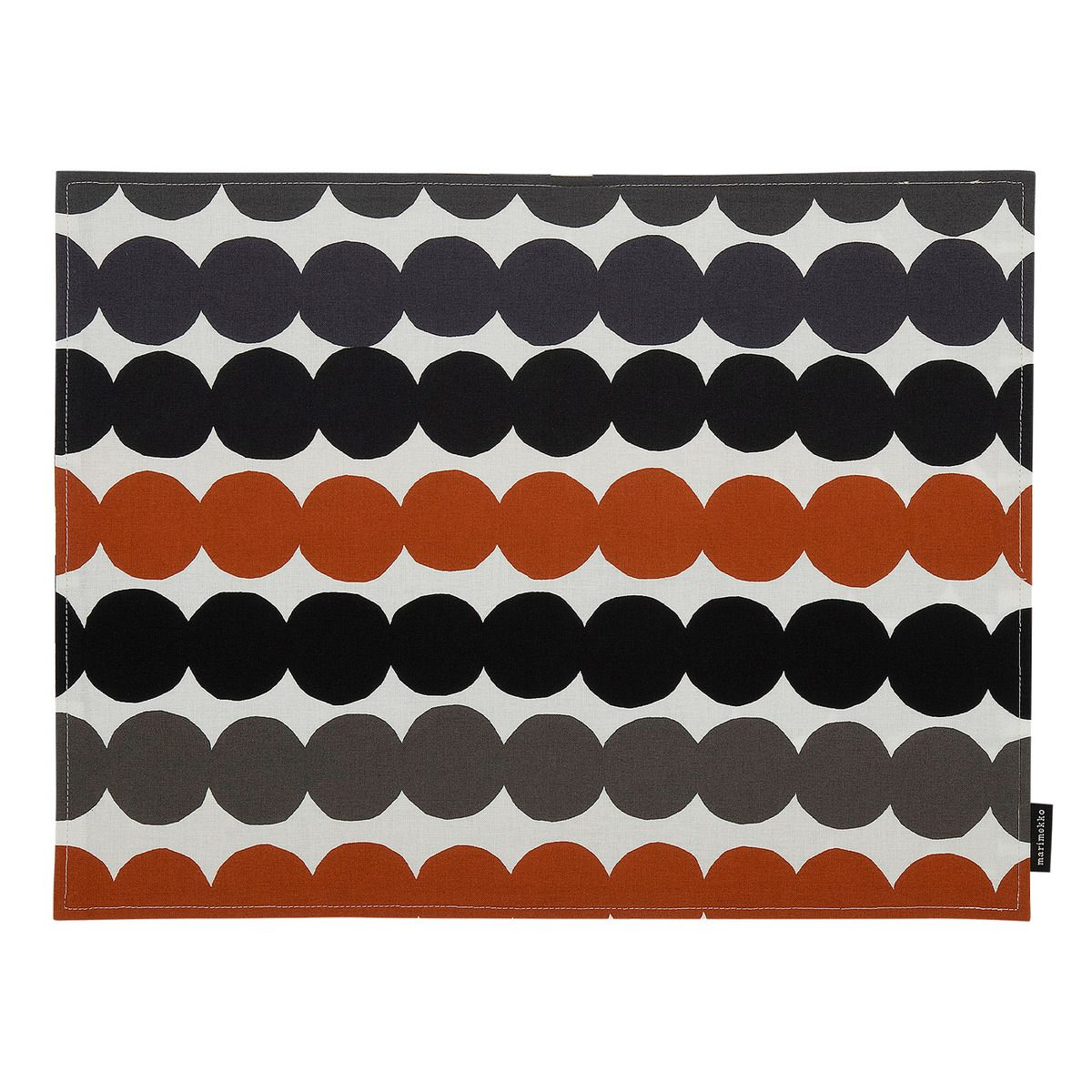 Marimekko S Rasymatto Coated Cotton Placemat Features Maija Louekari S Attractive Pattern Depicting Linen Placemats Textile Prints Design Nordic Design Bedroom