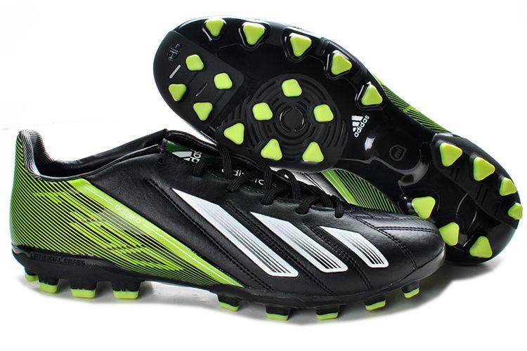 Adidas F50 TRX AG Football Boots - Black White Green  55  cf14aaa5f