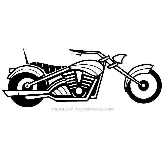 Motorbike Vector Graphics Motorbike Illustration Vector