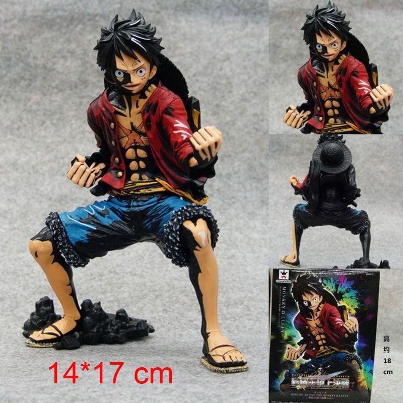 One Piece Straw Hat Monkey D Luffy Figurine PVC Action Figure Toy Anime Figma