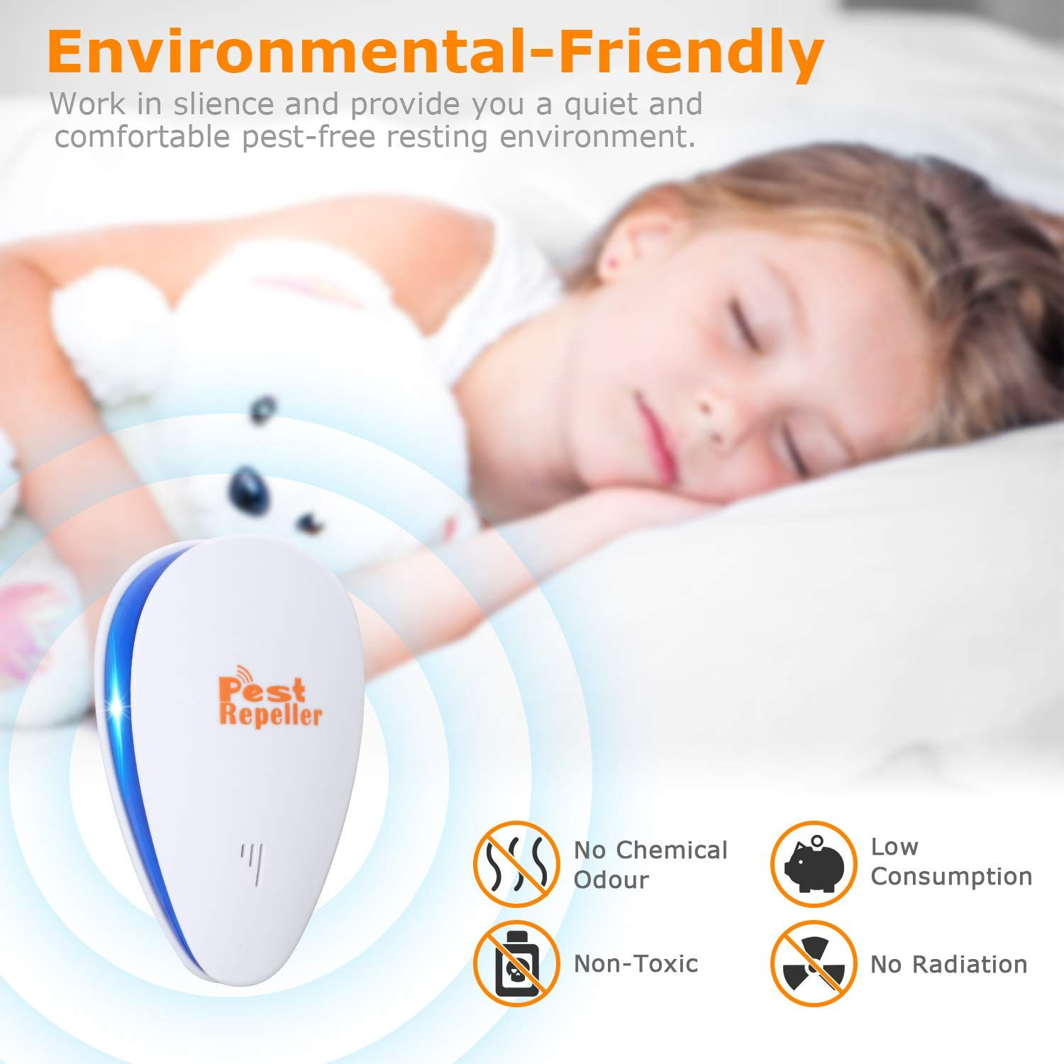 2018 Newest Pest Control Ultrasonic Repellent Electronic