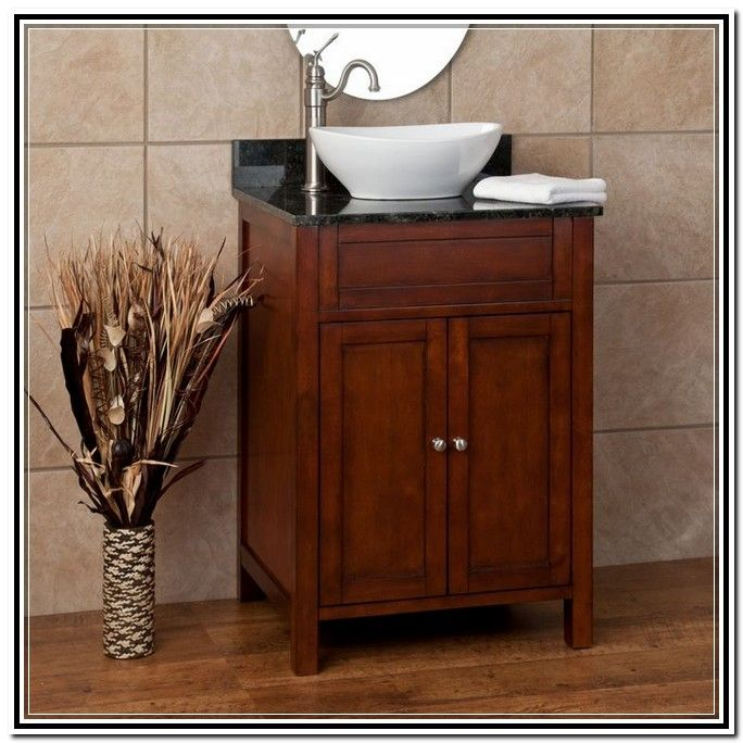 Powder room vanity with vessel sink powder room for Powder bathroom vanities