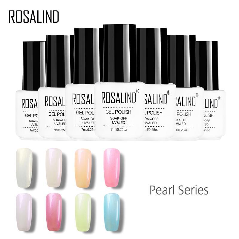 ROSALIND Gel 1S Fashion Pearl Series Farbe Charm Goddess Nail Color Gel Nagellack kann langanhaltende Gelfarbe aufsaugen   – 7ml White Bottle Mini