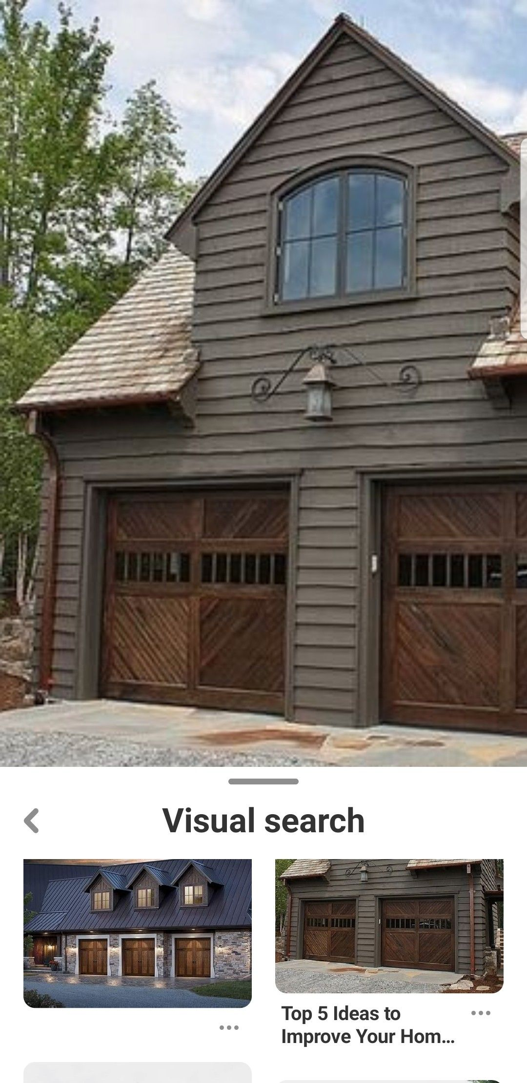 Pin By Dorthy Nelson On Siding Garage Doors House Styles Door Color Outdoor Decor