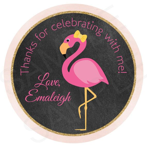 Flamingo Birthday Gift Tags  Printable File by TheLovelyMemories